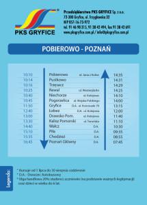 Pobierowo – Poznań – kursuje codziennie od 01.07 do 30.08.2017r. Poznań – Pobierowo – kursuje codziennie od 02.07 do 31.08.2017r.